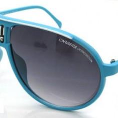 Ochelari Soare - CARRERA - Polarizati, UV400, Aviator Style - Albastru Deschis, Femei, Protectie UV 100%