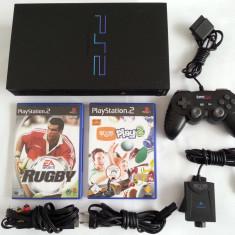 PlayStation 2 Sony cu maneta camera Eye Toy 2 jocuri si cabluri originale joc consola