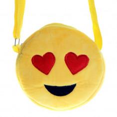 Geanta mini plus Emoticons, bareta reglabila diametru 15 cm