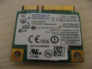 Placa de retea wireless Dell Studio 1555, Intel WiFi Link 5100, 512AN_HMW 0H006K