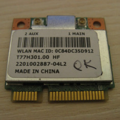 Placa de retea wireless Acer Aspire One 725, Atheros AR5B125, T77H301.00