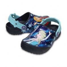 Saboti pentru copii CrocsFunLab Frozen Navy (CRC204112-410) - Papuci copii Crocs, Marime: 23.5, 25.5, 27.5, 29.5, 32.5, 33.5, 34.5, Culoare: Bleumarin