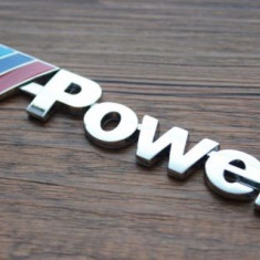 Stiker emblema auto metal pentru BMW M power sport adeziv profesional inclus - Embleme auto