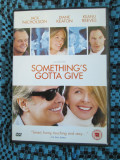 SOMETHING'S GOTTA GIVE (1 FILM DVD ORIGINAL cu JACK NICHOLSON si KEANU REEVES)