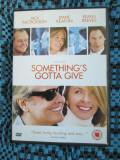 SOMETHING'S GOTTA GIVE (1 FILM DVD ORIGINAL cu JACK NICHOLSON si KEANU REEVES), Engleza
