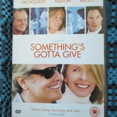 SOMETHING'S GOTTA GIVE (1 FILM DVD ORIGINAL cu JACK NICHOLSON si KEANU REEVES)