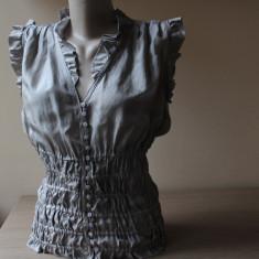 Camasa Zara, matase naturala 100%, nuanta greige - Camasa dama Zara, Marime: S/M