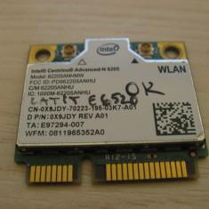 Placa wireless Dell Latitude E6520, Centrino Advanced-N 6205, 62205ANHMW, 0X9JDY
