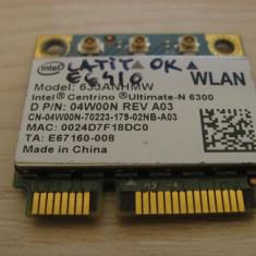 Placa wireless Dell Latitude E6410, Centrino Ultimate-N 6300, 633ANHMW, 04W00N