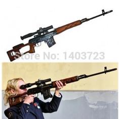 PUSCA JUCARIE DRAGUNOV SVD ELECTRICA, SUNETE, LUMINI, VIBRATIE, MASOARA 1 METRU! - Pistol de jucarie, Plastic, Unisex