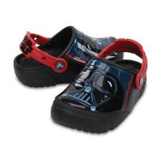 Saboti pentru copii CrocsFunLab Lights Darth Vader (CRC204137-001) - Papuci copii Crocs, Marime: 23.5, 25.5, 27.5, 29.5, 32.5, 33.5, 34.5, Culoare: Negru