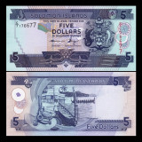 Solomon Islands 2012 - 5 dollars UNC - Timbre straine