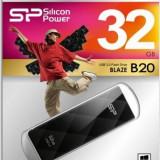 USB Flash Drive Silicon Power Blaze B20 32GB USB 3.0 Negru