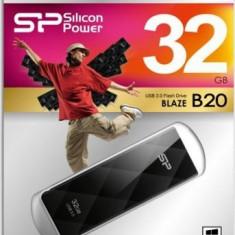USB Flash Drive Silicon Power Blaze B20 32GB USB 3.0 Negru - Stick USB