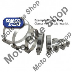 Set coliere inox pentru furtune radiator Samco 19020842 / 19020823, - Furtune racire Moto