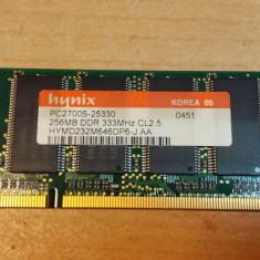 Ram Laptop hynix 256MB DDR1 333 MHz HYMD232M646DP6-J - Memorie RAM laptop