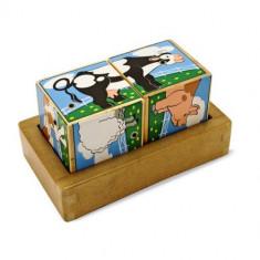 Cuburi Sonore Ferma - Jocuri Forme si culori