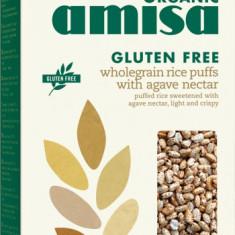 Orez integral expandat cu sirop de agave fara gluten bio 225g - Bufet