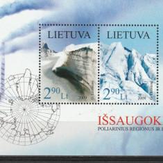 Anul ghetarilor, Antartica munti, harta Lituania. - Timbre straine, Nestampilat