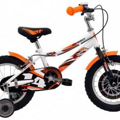 Bicicleta Copii DHS Speed 1403 (2016) Culoare Alb-Portocaliu