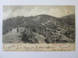 Carte postala circulata 1903 cu puturile petrolifere de la Stoinesti-Bacau, Printata