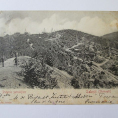 Carte postala circulata 1903 cu puturile petrolifere de la Stoinesti-Bacau - Carte Postala Moldova pana la 1904, Printata