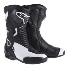 Cizme moto fete Alpinestars Stella S-MX6, negru/alb