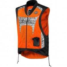 Vesta moto Icon Interceptor, portocaliu - Imbracaminte moto