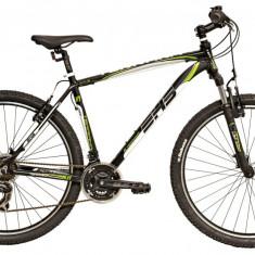 Bicicleta DHS Terrana 2723 (2017) Negru-Verde, 457mm - Mountain Bike DHS, 18 inch