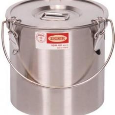 Container inox cu capac pentru depozitat mancare, 18 litri