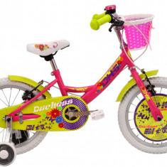 Bicicleta Copii DHS Duchess 1604 (2016) Culoare Roz, 9 inch