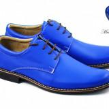 Pantofi barbati casual - eleganti din piele naturala Cod: P80ALBASTRU - Pantof barbat, Marime: 37, 38, 39, 40, 41, 42, 43, 44