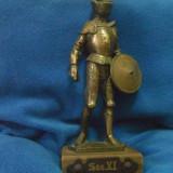 Soldat in armura metal masiv suflat bronz - Metal/Fonta