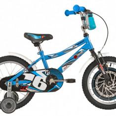 Bicicleta Copii DHS Speed 1601 (2016) Culoare Albastru, 9 inch