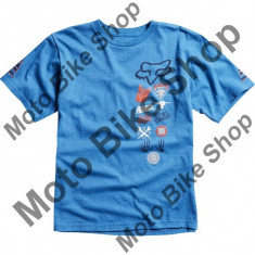 FOX KINDER T-SHIRT JUKER (JUGEND), heather blue, KXL, 15/036,