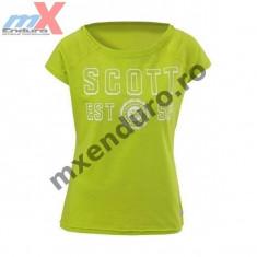 Tricou dama Scott University culoare verde