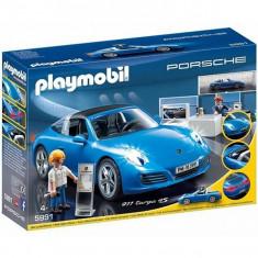 Masina Porsche 911 Targa 4+B65:B94s - Masinuta electrica copii Playmobil