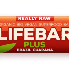 Lifebar Plus baton cu nuci braziliene si guarana raw bio 47g - Bufet