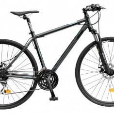 Bicicleta DHS Contura 2867 Culoare Negru/Albastru – 530mm - Bicicleta Cross, 21 inch