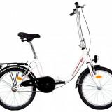 Bicicleta Pliabila DHS Folding 2092 (2017) Cadru 350mm Alb