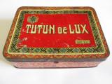 Cutie colectie tabla pentru Tutun de Lux regalist 200 grame din anii 30