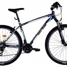 Bicicleta DHS Terrana 2723 (2016) Culoare Gri/Alb/Albastru 495mm - Mountain Bike DHS, 19.5 inch