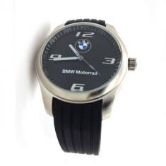 Ceas model sport BMW motorrad curea silicon neagra cutie simpla cadou - Ceas barbatesc, Lux - sport, Quartz, Inox, Analog