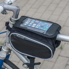 Suport bicicleta Forever BB-300 (tip geanta) negru pentru telefoane - Suport telefon bicicleta
