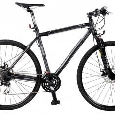 Bicicleta DHS Contura 2868 Culoare Negru/Gri – 480mm - Bicicleta Cross, 19 inch
