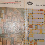 Despre arta si poezie vol 1 + 2 de Hegel - Filosofie
