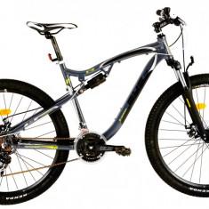 Bicicleta DHS Terrana 2745 (2016) Culoare Gri/Negru/Verde 440mm - Mountain Bike DHS, 17.5 inch
