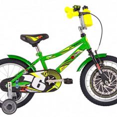 Bicicleta Copii DHS Speed 1601 (2016) Culoare Verde, 9 inch