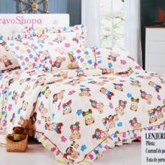 Lenjerie pat pentru copii cu ursulet - Lenjerie pat copii