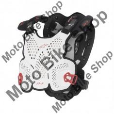 ALPINESTARS BRUSTPANZER A1 GROSS, weiss-schwarz-rot, XL-2XL, 17/019, - Armura moto